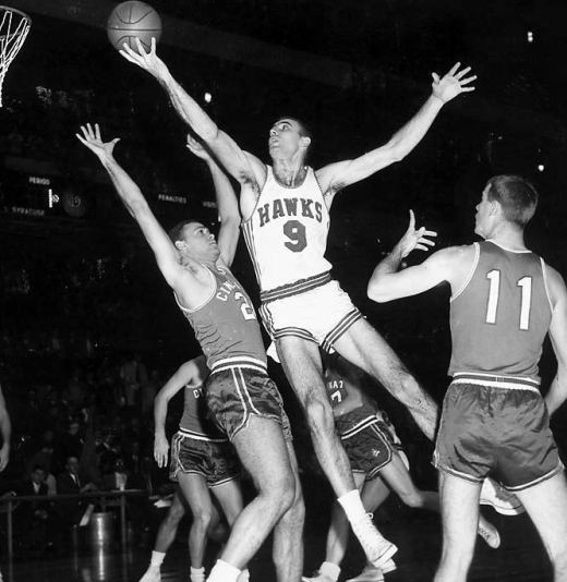 Bob Pettit, the original big man of the 50's. (ProHoopsHistory)