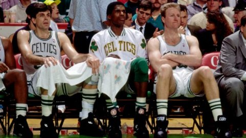 Kevin McHale, Robert Parish, and Larry Bird (Photo by Dick Raphael/NBAE via Getty Images)