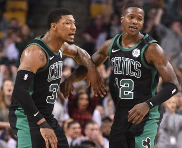 Smart and Rozier alternated as the point guard when Kyrie was injured. (Celtics Direct)