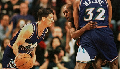 John Stockton and Karl Malone team-up almost clinched the NBA crown in the 90s. (SPOX)