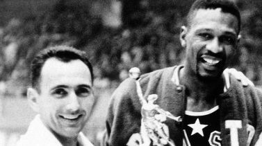 Bob Cousy with Bill Russell (NPR)