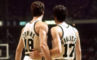 Dave Cowens and John Havlicek (Buzz Vivo)