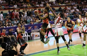 Alex Mallari battles it out.