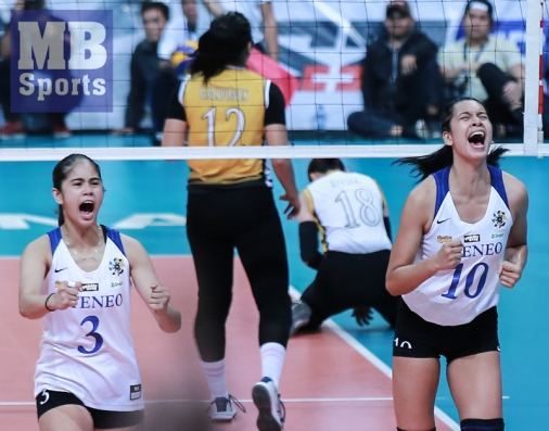 Ateneo's come from-behind win. (Rio Leonelle Deluvio)